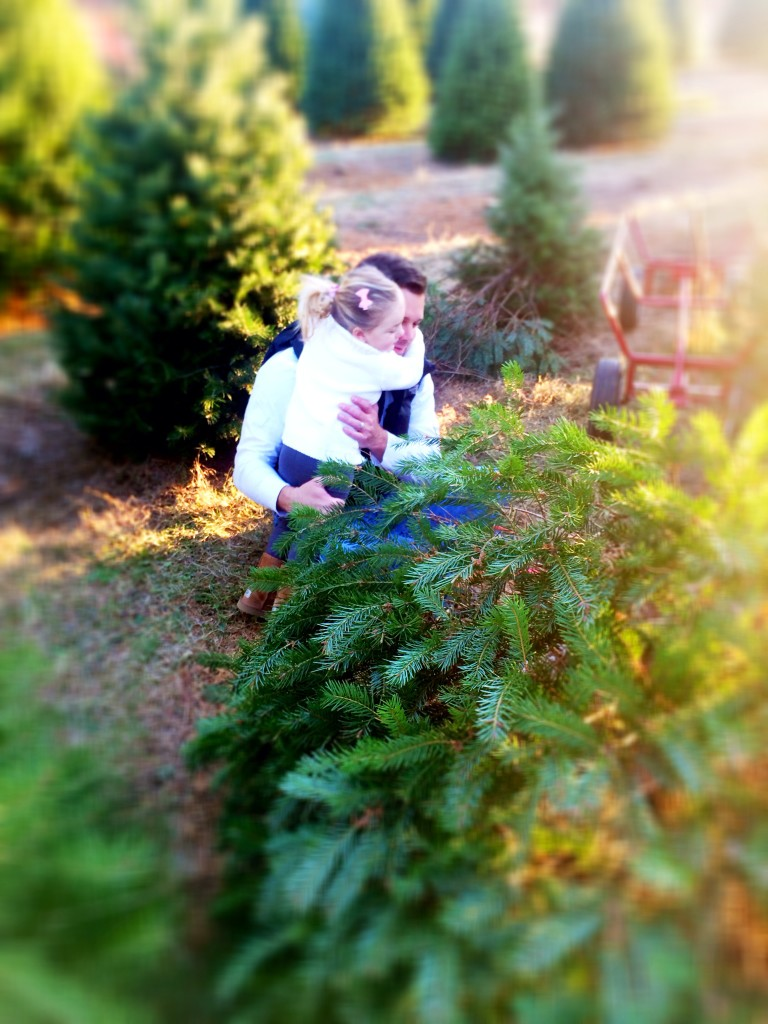 emma and daddy christmas tree farm 2