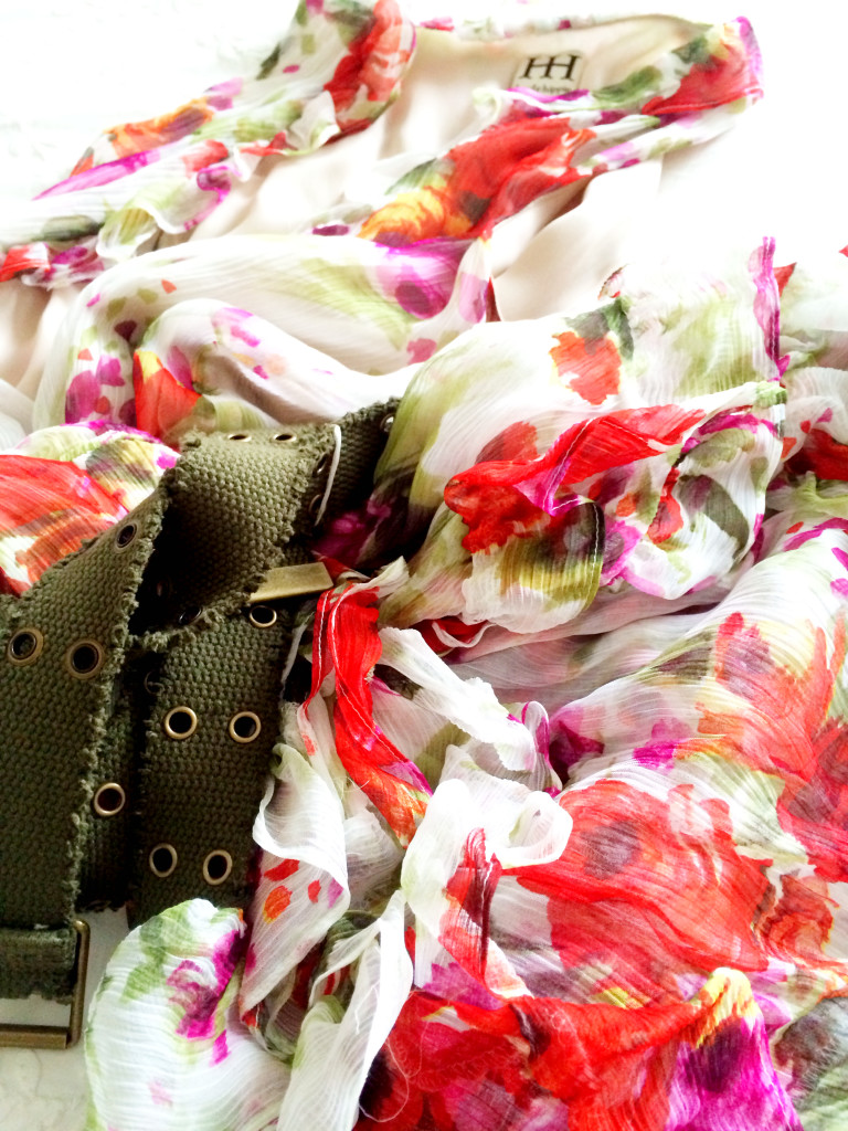 spring things floral dress